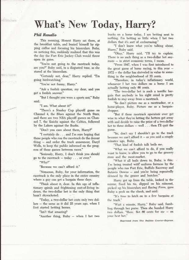 1972 ECLIPSE AWARD PHIL RANALLO ARTICLE THAT WINS ECLIPSE AWARD.jpg