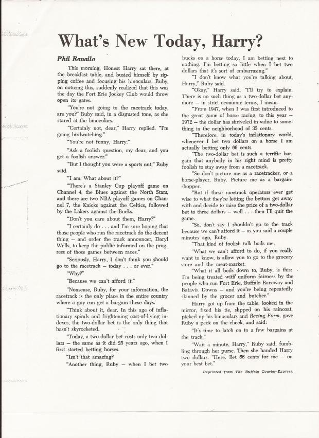 1972 ECLIPSE AWARD PHIL RANALLO ARTICLE THAT WINS ECLIPSE AWARD.jpg