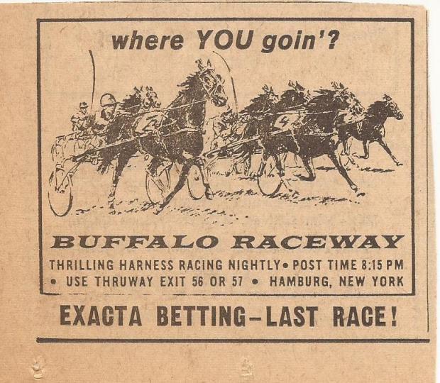 BUFFALO RACEWAY COURIER EXPRESS EXACTA ADD