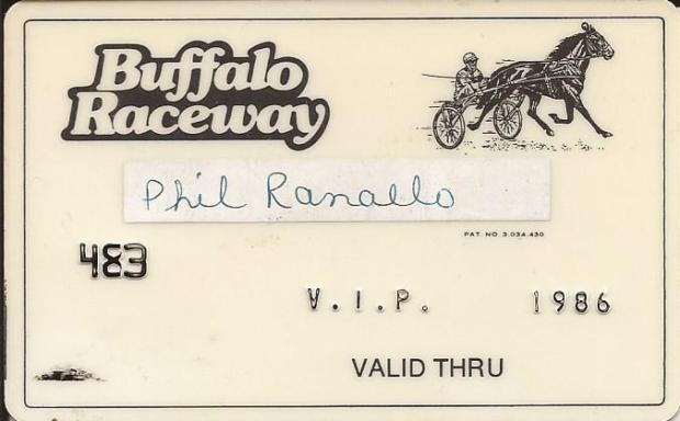 BUFFALO RACEWAY V.I.P. CARD
