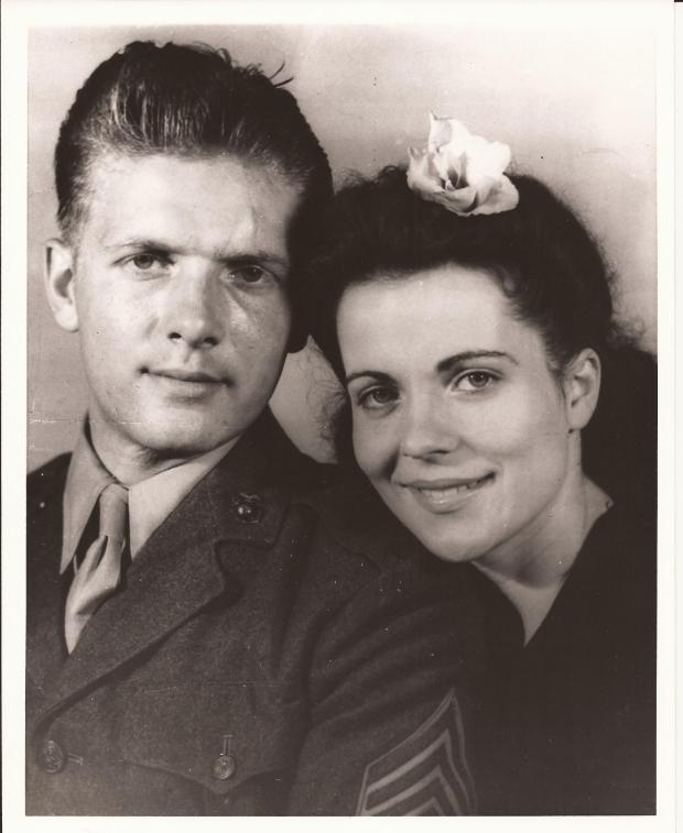 PHIL RANALLO AND WIFE DOROTHY AKA RUBY RANALLO FROM WW2 ERA