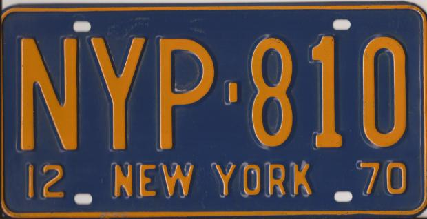 Phil Ranallo NYP LICENSE PLATE