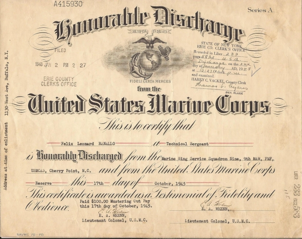 united-states-marine-corp-honorable-discharge-certificate-wwii