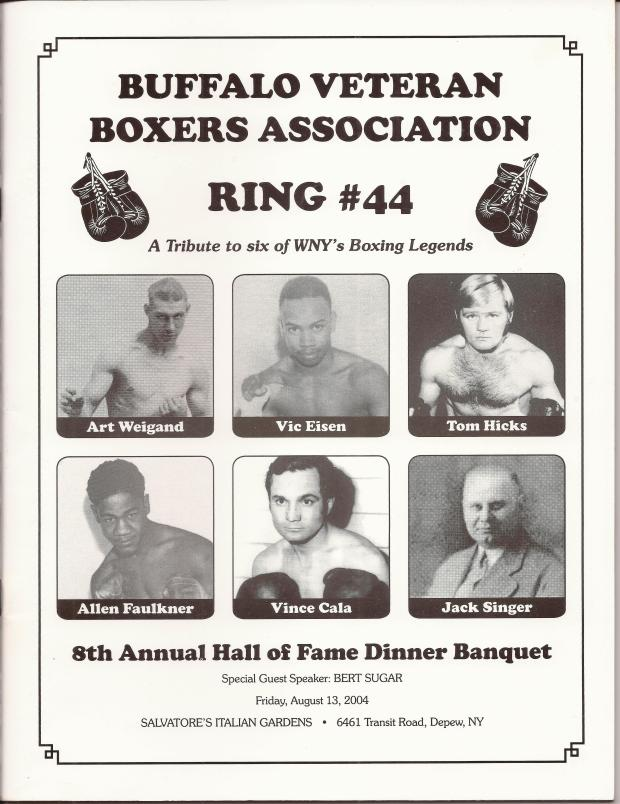 VINCE CALA HALL OF FAME RING 44 COVER